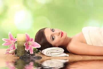 Woman Getting Spa Massage in Spa Salon