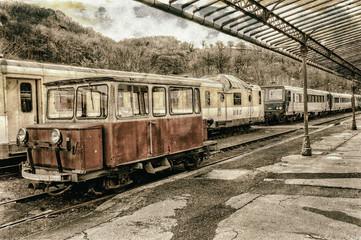 vieille photo d'une gare SNCF