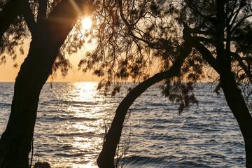 Sunset in the Turkey beach.