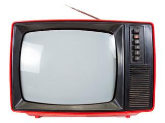 Vintage portable TV set isolared