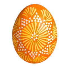 Single Sorbian Easter Egg isolated on white