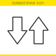 Up and down arrows linear icon