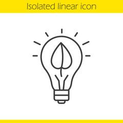 Eco energy concept linear icon