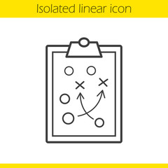 Clipboard game plan linear icon