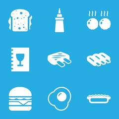 Set of 9 meal filled icons