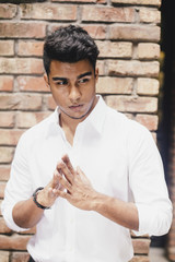 portrait of young indian businessman