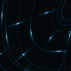 Abstract shiny technology