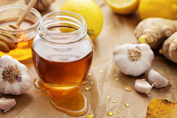 Honey, garlic, ginger and lemon