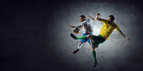 Football game statistics . Mixed media . Mixed media