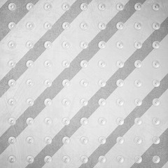 Striped scratched metal abstract background with rivets. 3d render