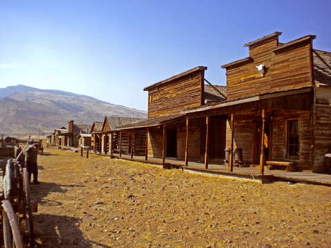old trail town, cody, wyoming, usa