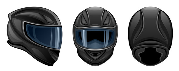 Wall Mural - Black helmet
