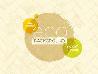 Organic Nature Eco Friendly Vector Background Concept
