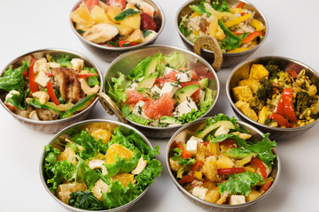 Vegan and vegetarian indian cuisine salads