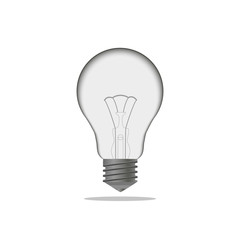 realistic light bulb isolated on white background.