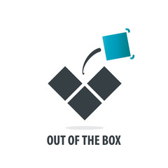 Initial Letter Out Of Box Design Logos