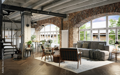 Renoviertes Industrie Loft - Old vintage industrial Loft Apartment ...
