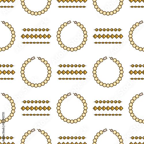 """Set of vector jewelry line seamless pattern. Diamond ..."