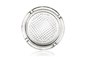 Glass ashtray isolated on white