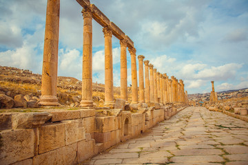 Roman ancient ruins, city of Jerash, Jordan