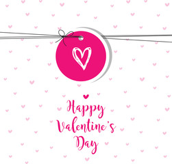 Valentine's card with copy space. Template. Graphic design element. Greeting card.
