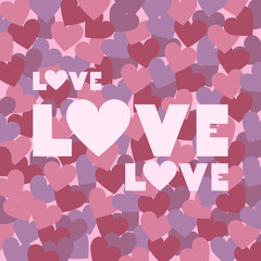 Vector illustration of love text for Happy Valentines day card