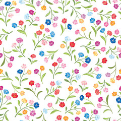 Floral pattern. Flower seamless background. Flourish ornamental nature texture