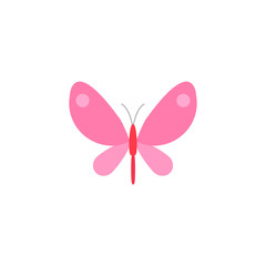 Butterfly flat icon, spring & easter elements, insect sign, a colorful solid pattern on a white background, eps 10.
