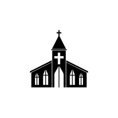 Church solid icon, religion & building elements, Religious sign, a filled pattern on a white background, eps 10.