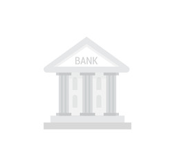 Bank isolated vector icon in flat style.