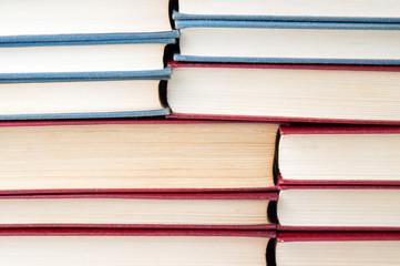 Books on the shelf  background