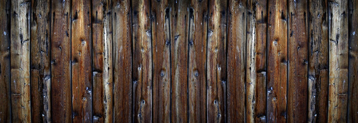 Old Rough Wooden Plank Fence Texture