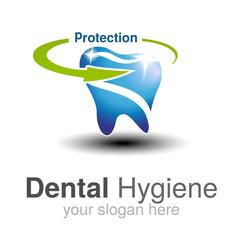 Vector dentist logo design template. Tooth line symbol for Dental clinic or mark for dental hygiene