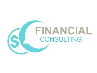 Vector brand for financial consulting agency, best advice. Logo design with symbol of speech bubble and money.