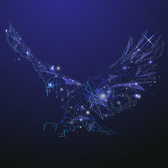 Abstract glowing eagle