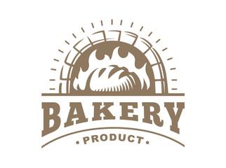 Bread logo - vector illustration. Bakery emblem design on white background