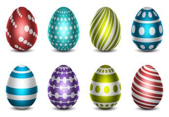 Metallic Easter Egg Icon Set