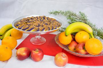 Purple Yam cake sweets Christmas display Philippines foods