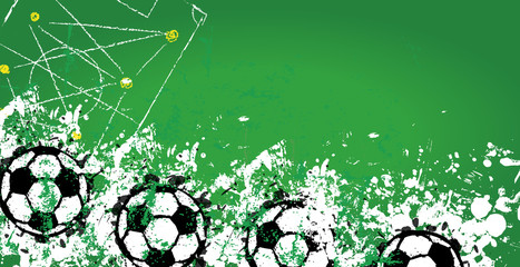 Soccer / Football design template,banner,free copy space, vector