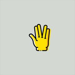 hand icon flat design
