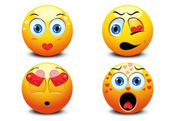 4 Large Emoji Face Icons