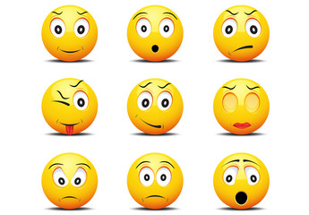 9 Emoji Face Icons