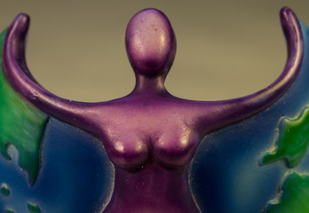 Purple Goddess With Arms Outstretched
