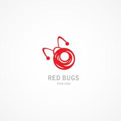 Red LadyBugs Logo