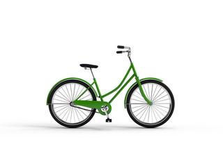 Vintage bike 3D illustration.