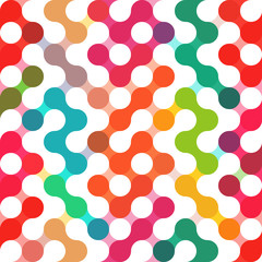 Vector geometric pattern of circles. Colored seamless backdrop