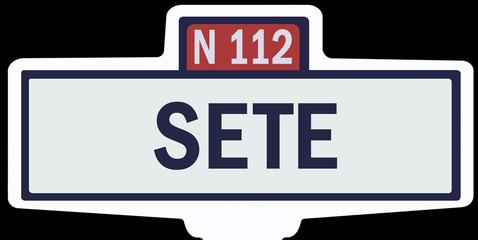 SETE - Ancien panneau entrée d'agglomération