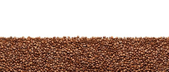Stripe of coffee beans