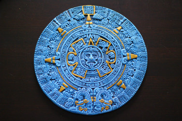 Aztec Calendar from Cancun Mexico