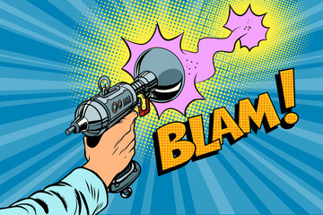 blam Science fiction shot of a Blaster comic cloud